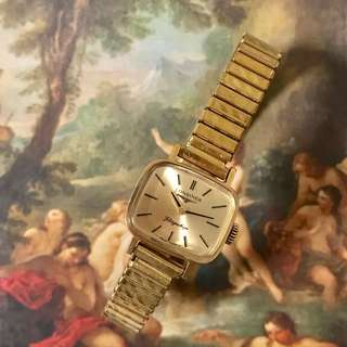 瑞士 Longines 浪琴 古董 手動上鏈 包金鋼女裝錶