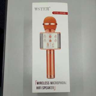 Wireless Microphone HIFI speaker WS-858