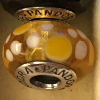 PANDORA 黃色點點 琉璃珠