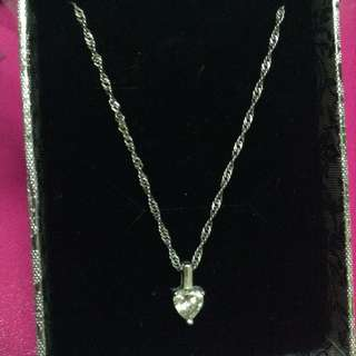 Authentic 925 Italy Silver Gem Crystal Necklace