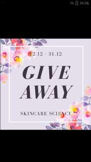 Giveaway by @skincarescience