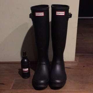 降⬇️Hunter 長筒雨鞋 雨靴 贈保養油