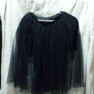 Black Tulle Medium Skirt