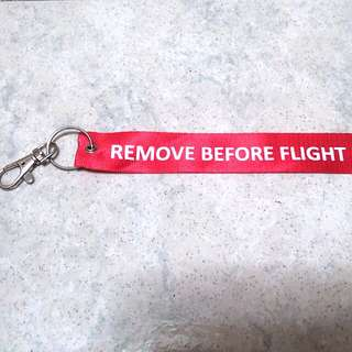 $4 Lanyard SIA remove before flight Singapore Airline air line