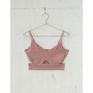Bershka embossed fabric top