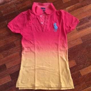 Auth Ralph Lauren Ombre Polo Shirt