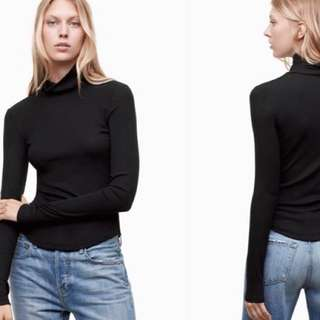 Aritzia Black Turtleneck