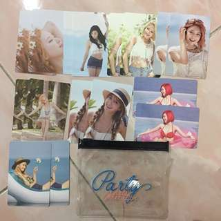 SNSD PARTY OFFICIAL PHOTOCARD SET