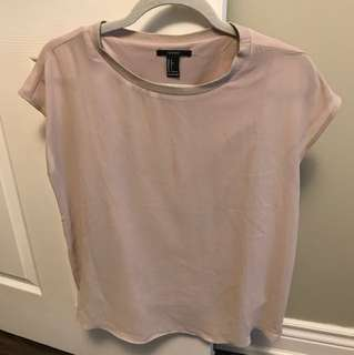 F21 Shirt - pinkish beige - small