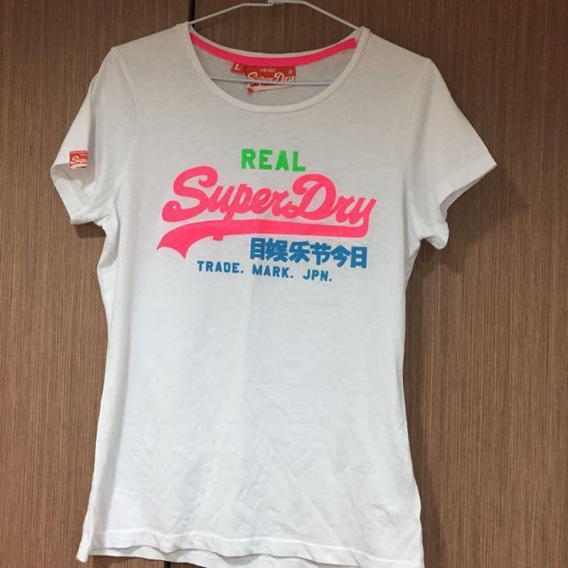 原價2250 全新Superdry 白色logo T-shirt