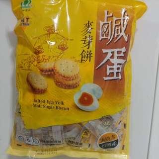 台灣直送鹹蛋麥芽餅