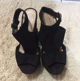 NEWLOOK Black platform shoes