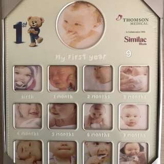 Photo frame for 1st year baby