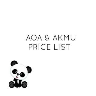 AOA &  AKMU PRICE LIST