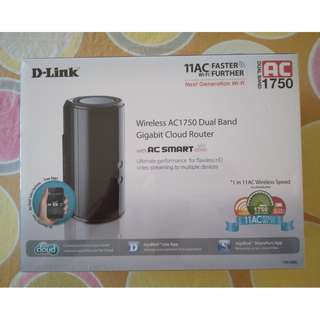 Dlink Wireless AC1750 Dual-Band Gigabit Cloud Router DIR-868L