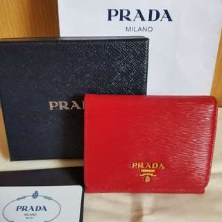 近全新 Prada 三摺銀包wallet not bag袋 miu miu chanel