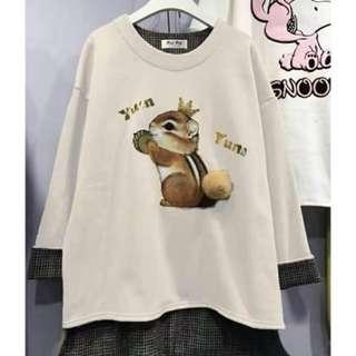 預購:韓國 松鼠造型毛球上衣