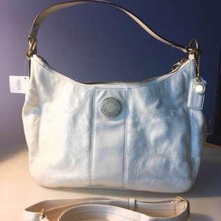 Authentic Coach Signature Patent Leather Bag