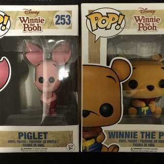 Winnie the Pooh, Elmo Flocked Funko Pops