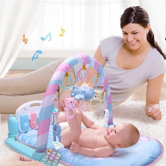 婴儿健身架器脚踏踢琴3-6-12个月0-1岁儿童脚踩玩具