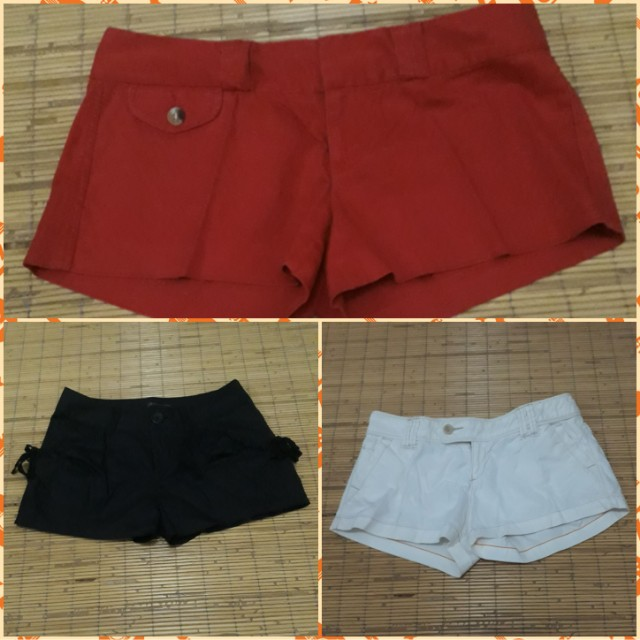 3 pieces hot pants
