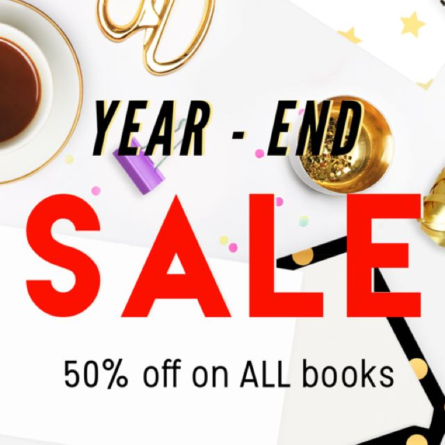 50% OFF ON ALL BOOKS