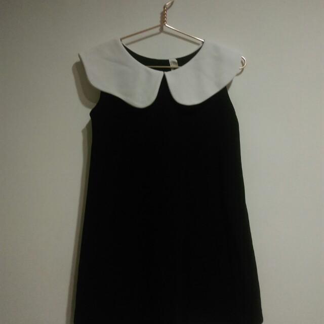 韓製黑白可愛小洋裝