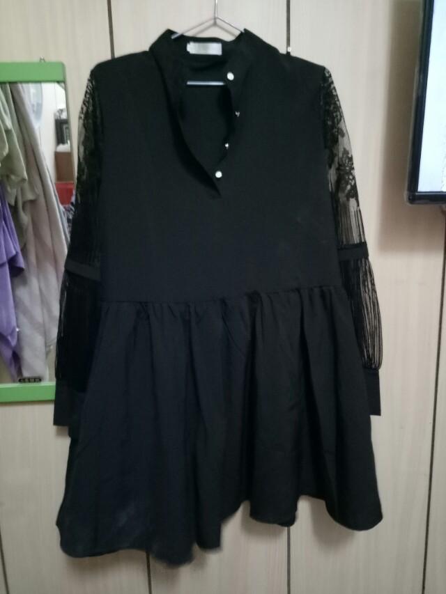 🌺全部黑色蕾絲洋裝