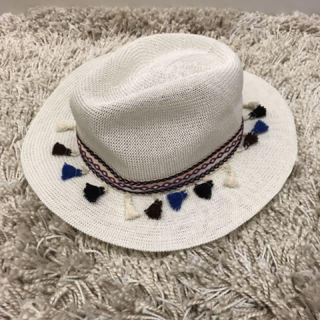 全新 編織 麻帽