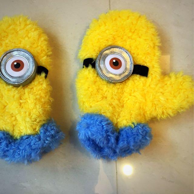 日本環球購入 小小兵 保暖手套