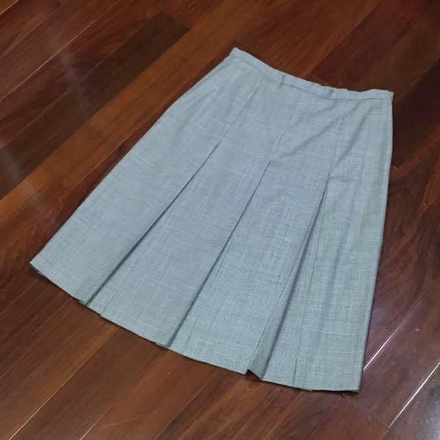 復古 專櫃 細千鳥格 羊毛 折裙