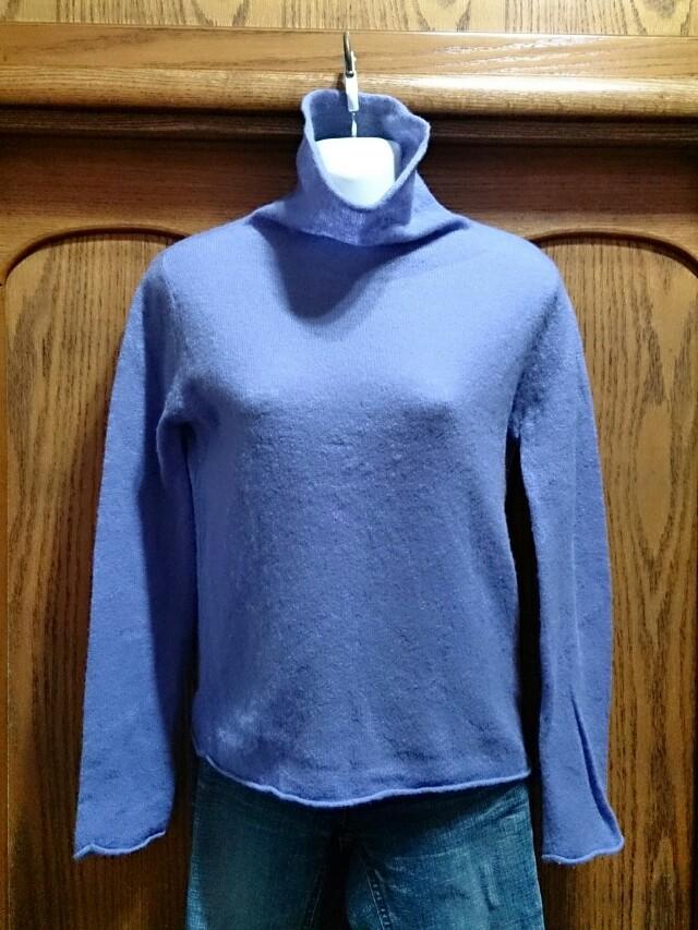 百貨公司專櫃 ESPRIT 紫色高領毛衣 L號