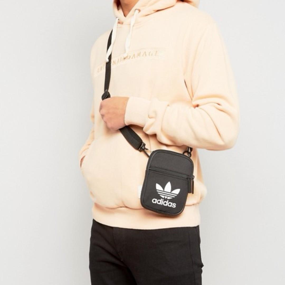 f20adb3860 Adidas Trefoil Flight Sling Bag Black