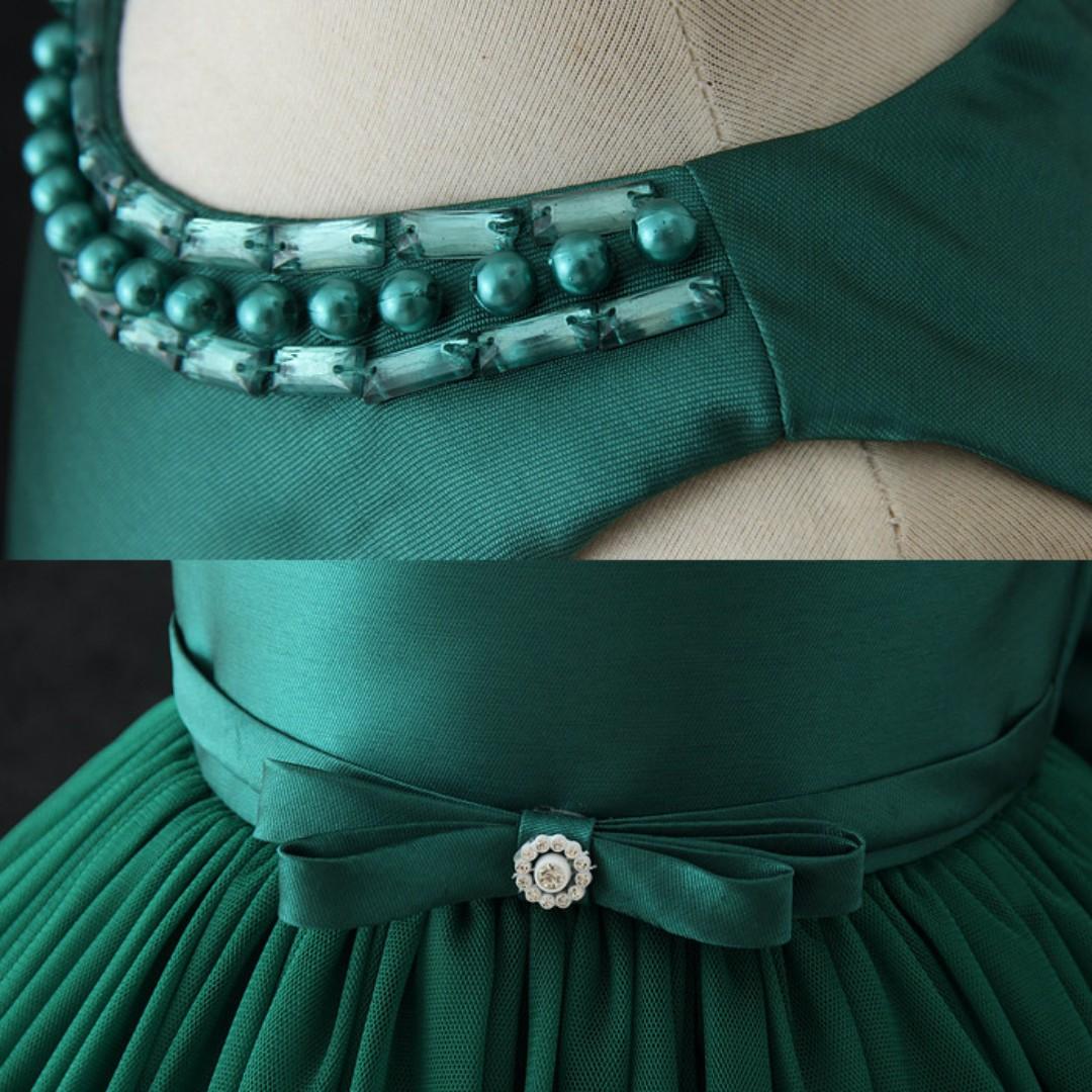 Amelia Green Party Dress/ Formal Dress/ Birthday Dress/ Fancy Dress ...