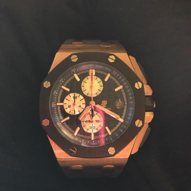 AP 男錶 附錶盒,發票