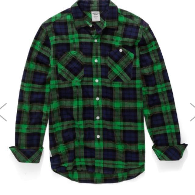 AR綠格紋襯衫