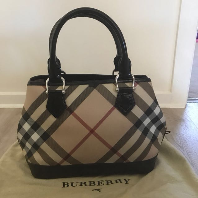 Authentic Burberry top handle tote