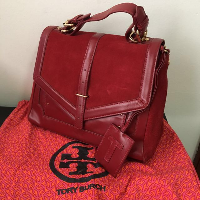 11c5a3569892 Authentic Tory Burch 797 messenger bag - Red with original dustbag ...