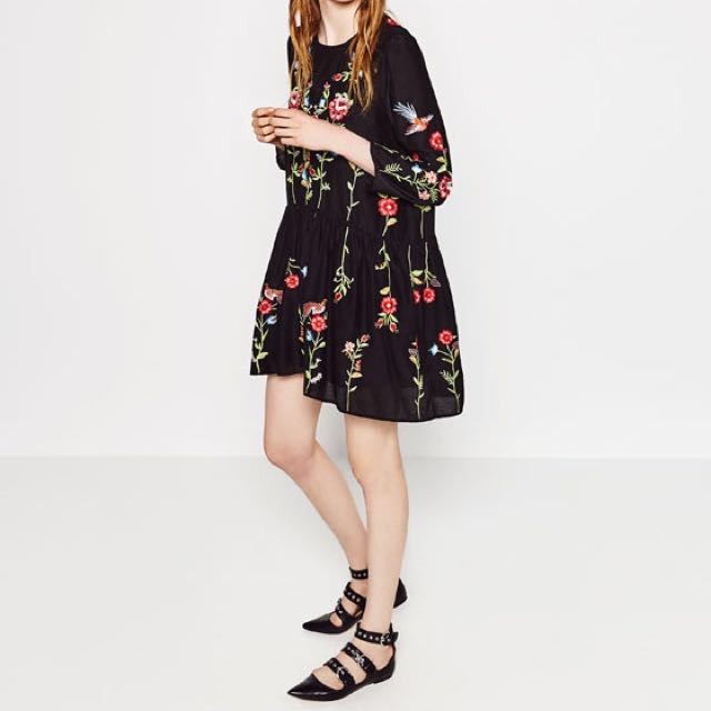 Authentic Zara Embroidery Dress