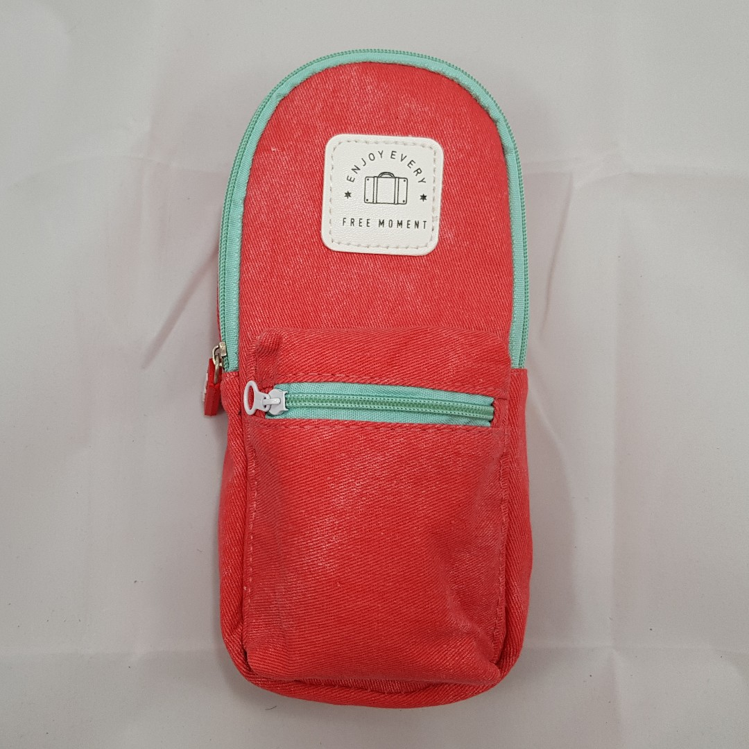 Backpack Pencil Case (Peach)