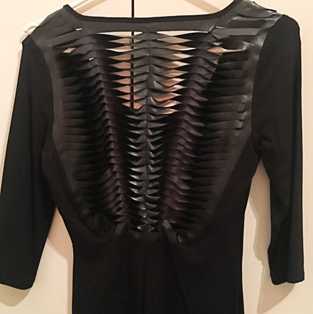 Bettina Liano: Black Mini Dress
