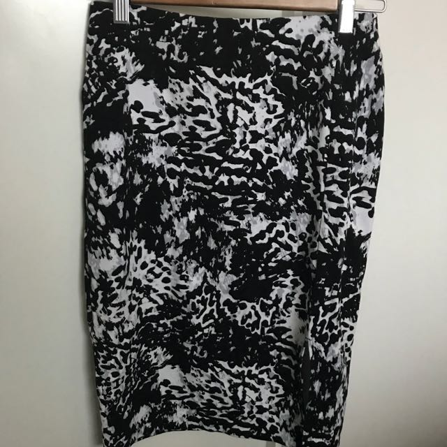 Black and white work / business skirt