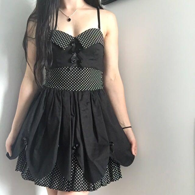 BLACK HELL BUNNY PETTICOAT DRESS
