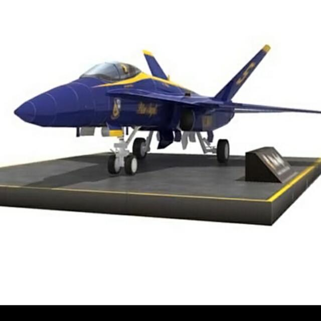 Blue Angels F18 Paper Model 1:48 Scale, Toys & Games, Bricks