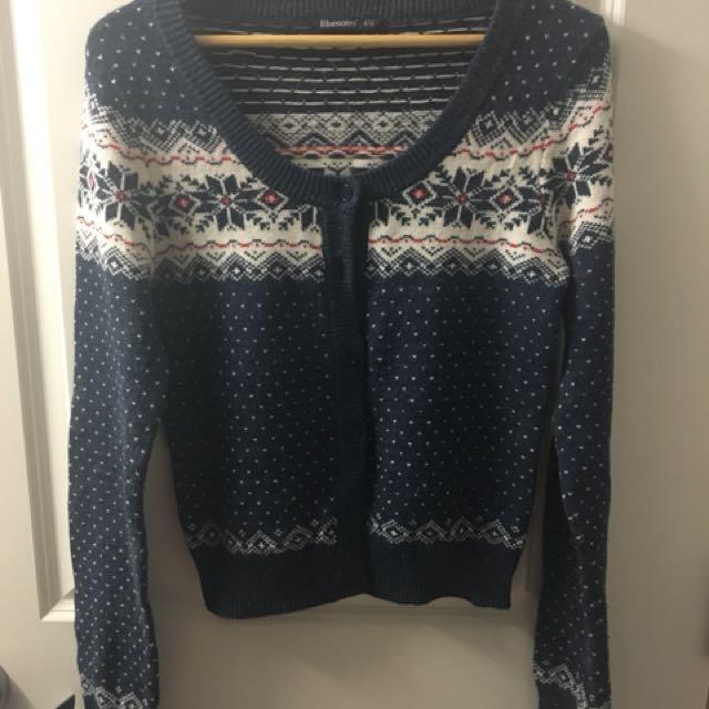 Blue Bluenotes Sweater