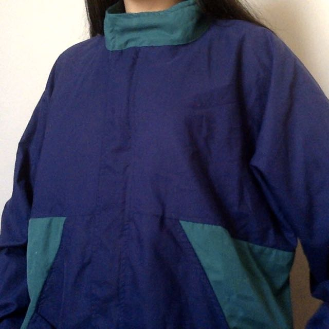 BLUE GREEN WINDBREAKER