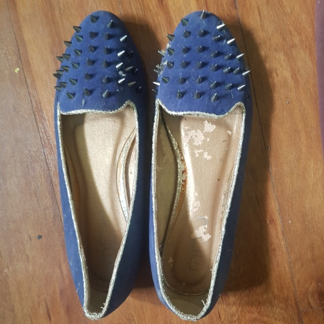 Blue Spiked Shoes