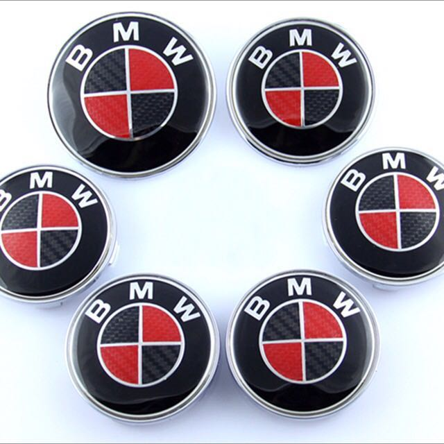Bmw Red Black Cf Emblem Full Set Car Accessories On Carousell