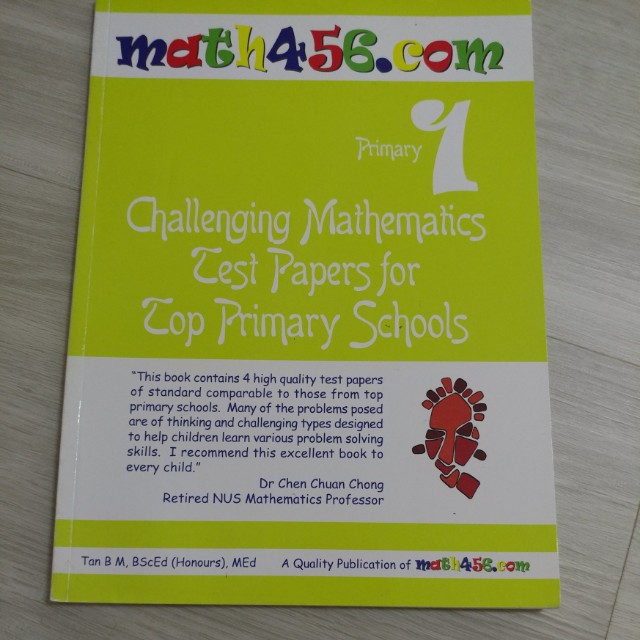 BN MATH456 COM PRIMARY 1 CHALLENGING MATH TEST PAPERS FOR TOP PRIMARY  SCHOOLS @ $2 ONLY!!!