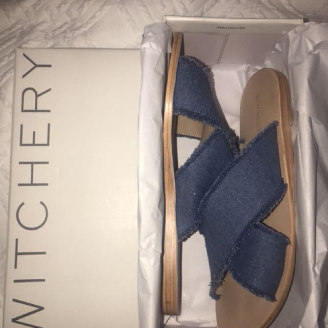 BNIB Denim slides size 41/10